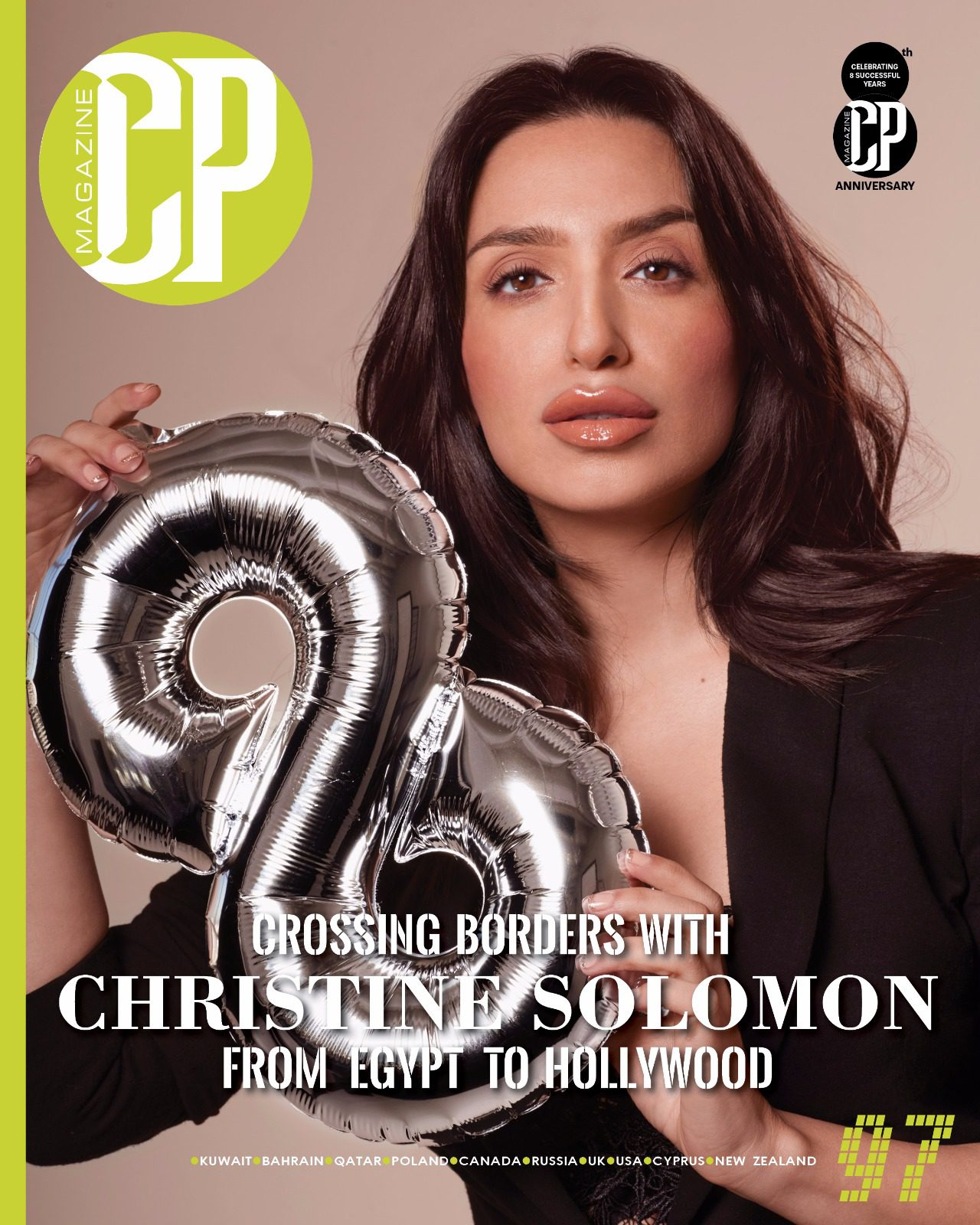 CP Magazine Cover with Christine Solomon photographed by Efren Beltran